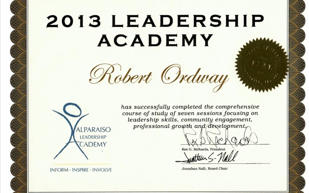 Valpo Chamber Leadership Academy – Class of 2013