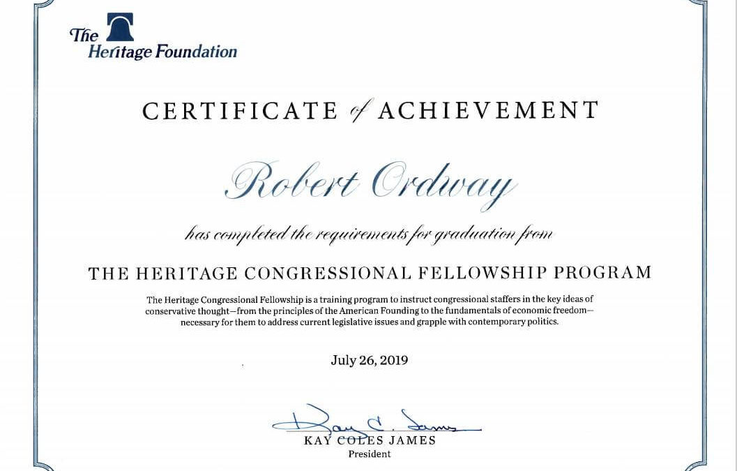 Heritage Congressional Fellowship